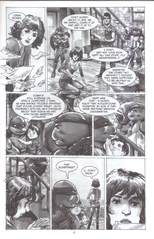 Tales of the TMNT (Vol. 2) #56 (March 2009).  Art by Paul Harmon.