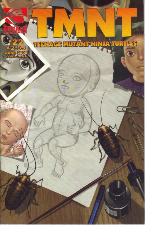 TMNT (Vol. 4) #22 (June 2005) Cover.  Art by Michael Dooney.